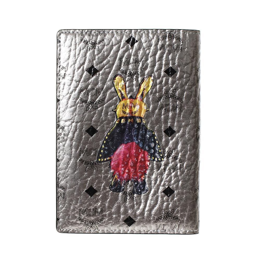 Mcm Silver Visetos Leather Rabbit Bi Fold Wallet