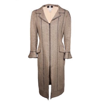 Oscar De La Renta Size 8 Woven Coat