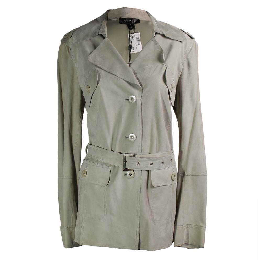 St.John Size 12 Suede Jacket
