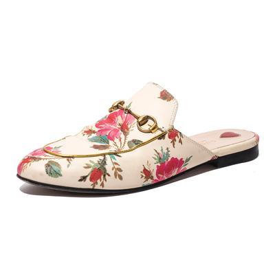 Gucci Size 9.5 Floral Princeton Slides