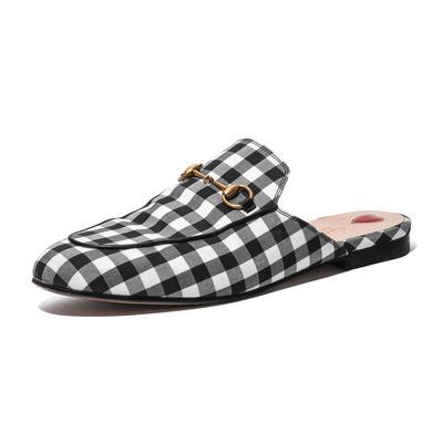 Gucci Size 9.5 Gingham Princeton Slides