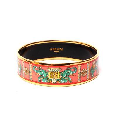 Hermes Enamel Cuff Bracelet