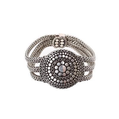 John Hardy Size Medium Nuana Silver Bracelet