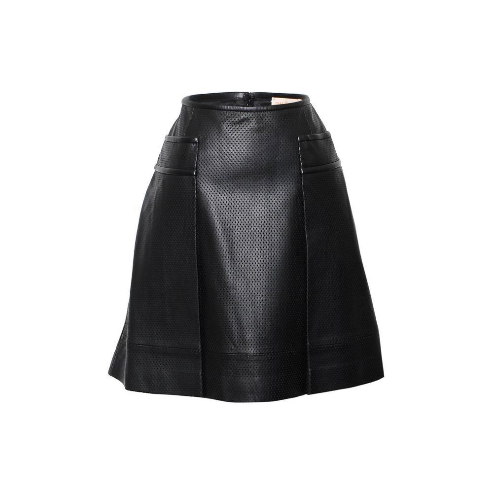 Tory Burch Black Leather Skirt