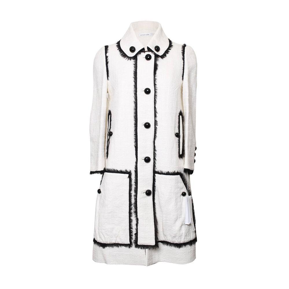 Peter Som Size 4 Black Trim Coat