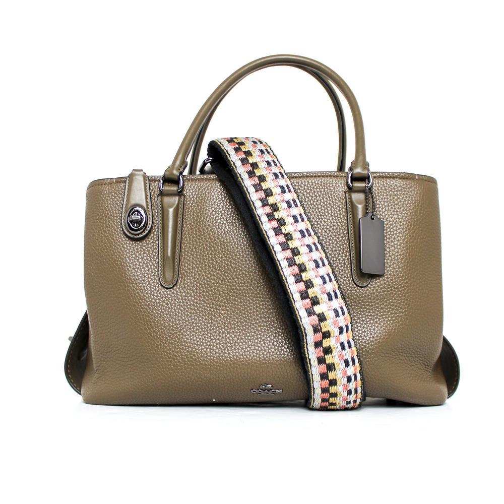 Coach Green Leather Handbag