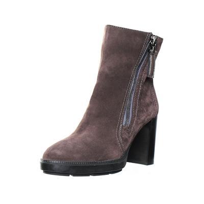 Aquatalia Size 9 Grey Suede Chunky Heel Booties