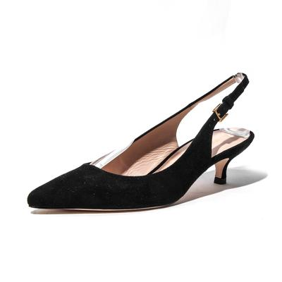 Stuart Weitzman Size 7.5 Suede Slingback Kitten High Heel