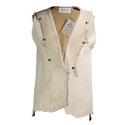 Pat Dahnke Size XS Distressed Lamb Vest