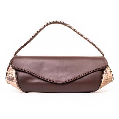 Giuseppe Zanotti Snake Skin Trim Handbag