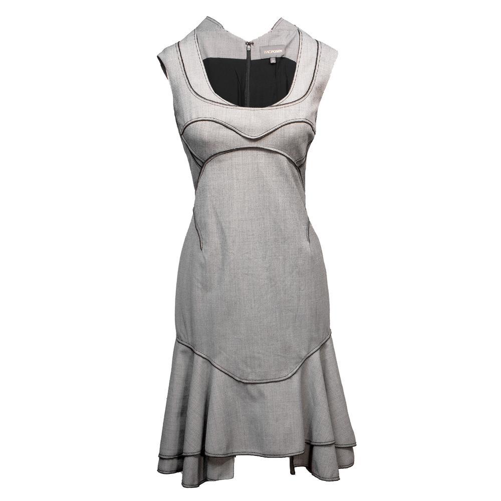 Zac Posen Size 6 Grey Dress