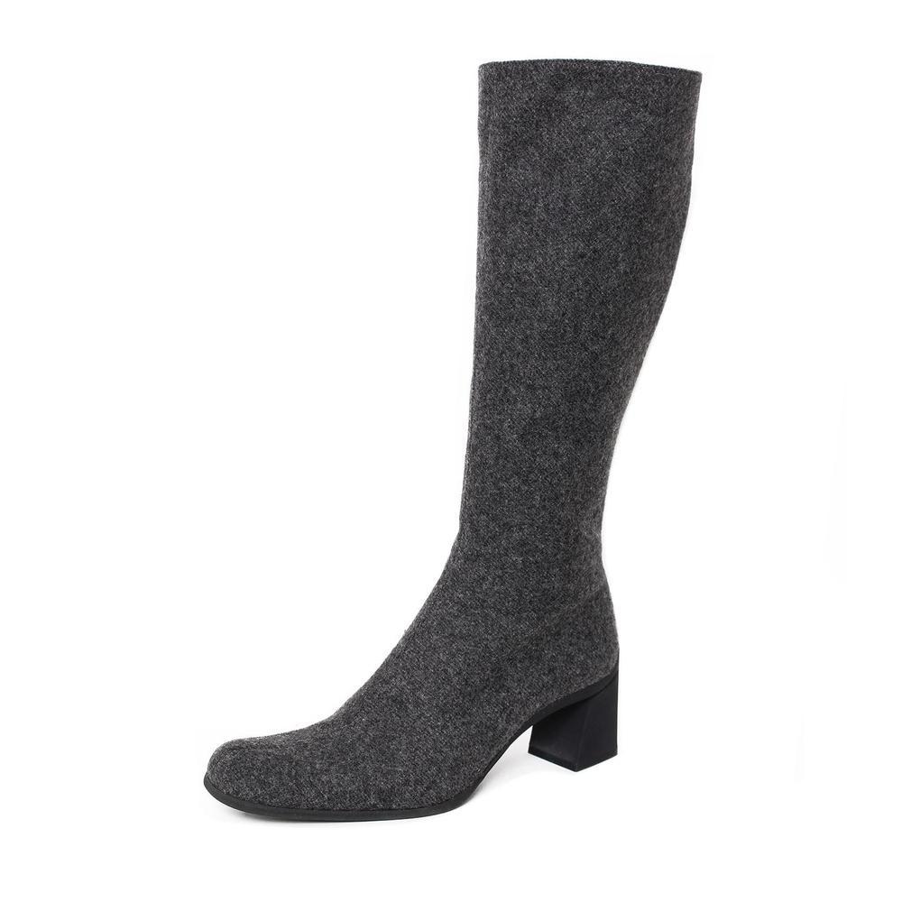 Prada Size 8 Wool Knee High Boots