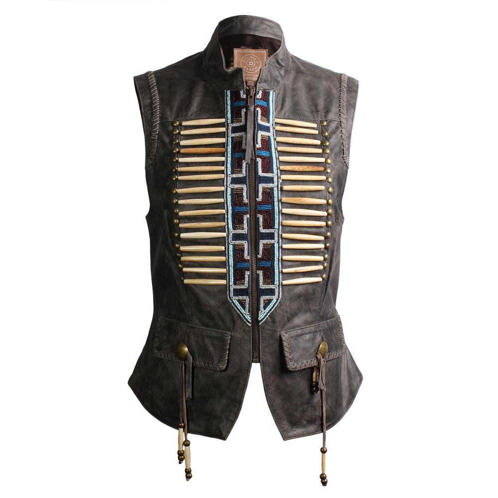 Double D Ranch Size Small Leather Corset Vest
