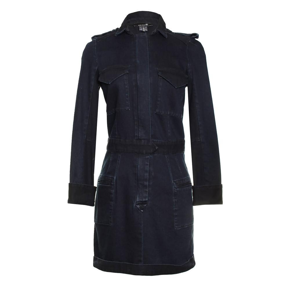 Isabel Marant Size 1 Black Denim Mini Dress