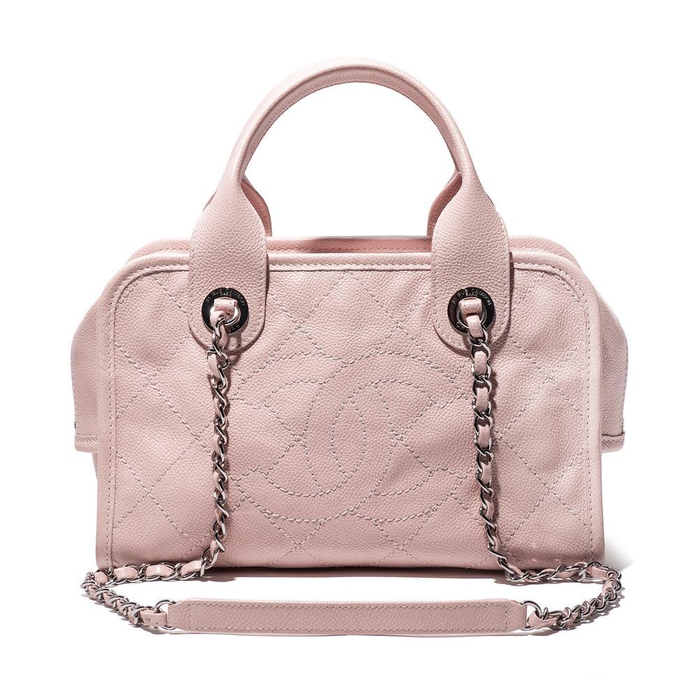 Chanel 2015 Caviar Deauville Bowler Bag