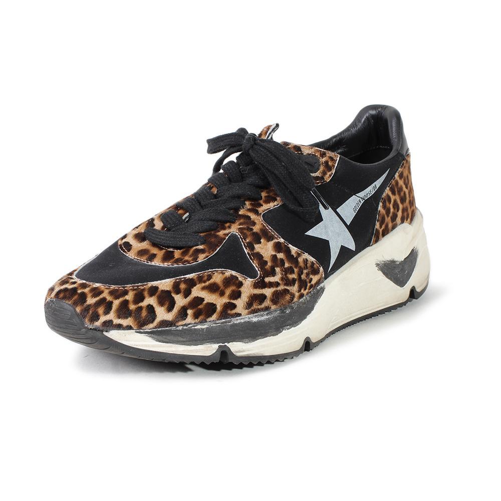 Golden Goose Size 9 Leopard Print Running Shoes