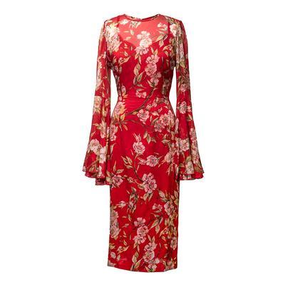 Dolce & Gabbana Size 44 Floral Print Dress