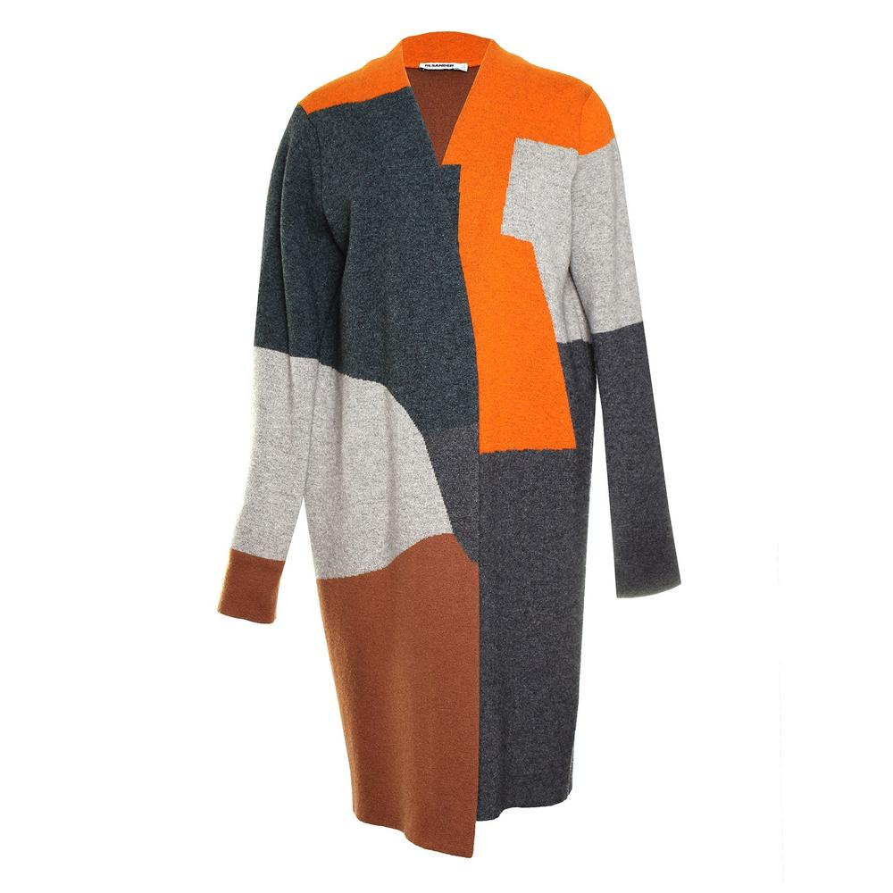 Jil Sander Size 38 Orange Cashmere Cardigan