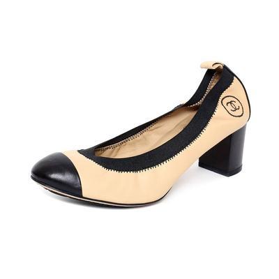 Chanel Size 37.5 Cap Toe Heels