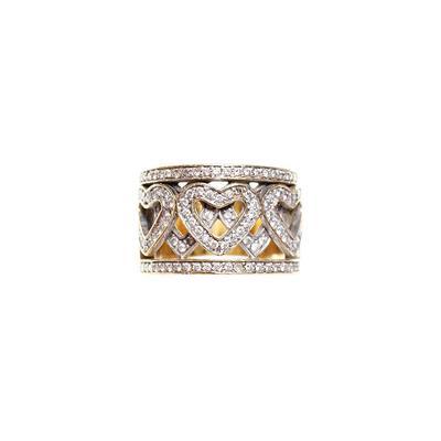 Size 6 18K Gold Heart Diamond Ring