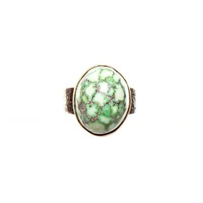 Noah Pfeffer Size 6 18K Gold Peacock Turquoise Ring