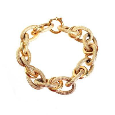 18K Gold Chain Link Bracelet