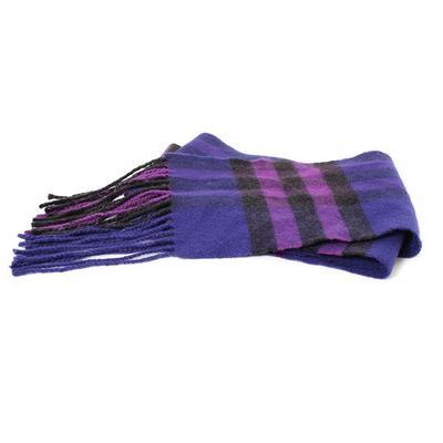 Burberry Purple Cashmere Fringe Scarf