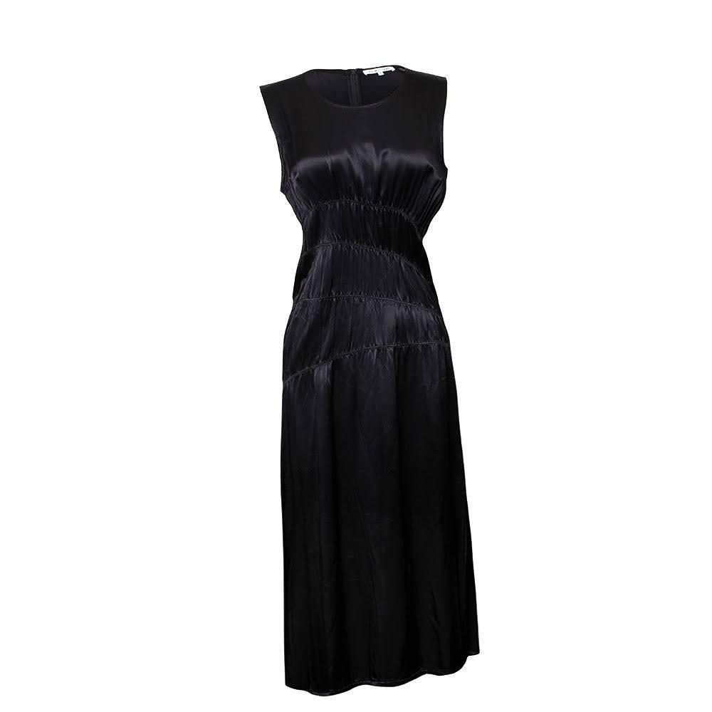 Helmut Lang Size 8 Satin Midi Dress