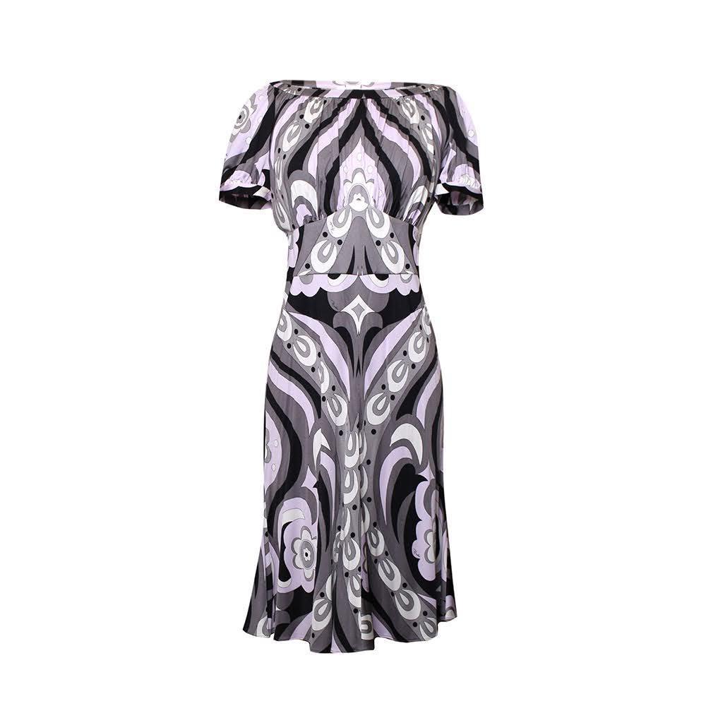 Emilio Pucci Size 42 Purple Paisley Dress