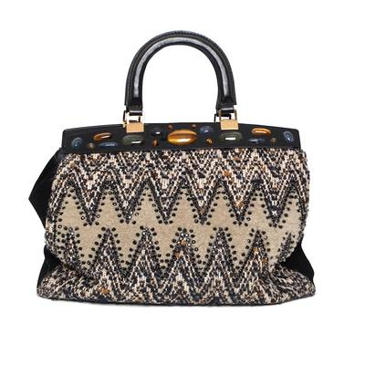 Tory Burch Tweed Oversized Handbag