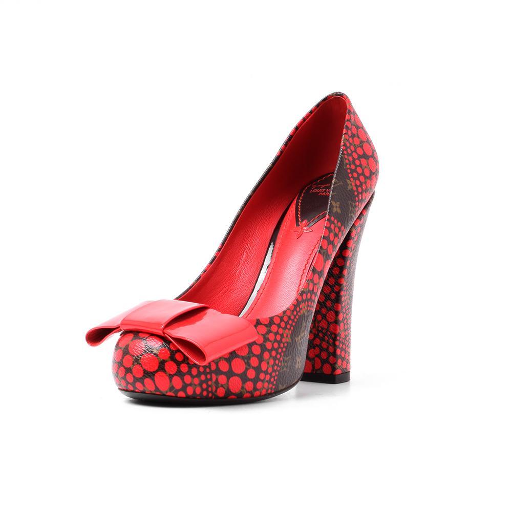Louis Vuitton Size 6 Yayoi Kusama Pumpkin Dot Heels