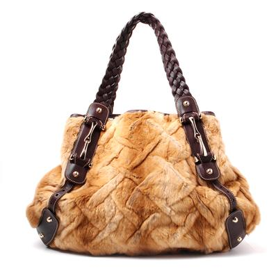 Gucci Pelham Mink Leather Trim Shoulder Bag