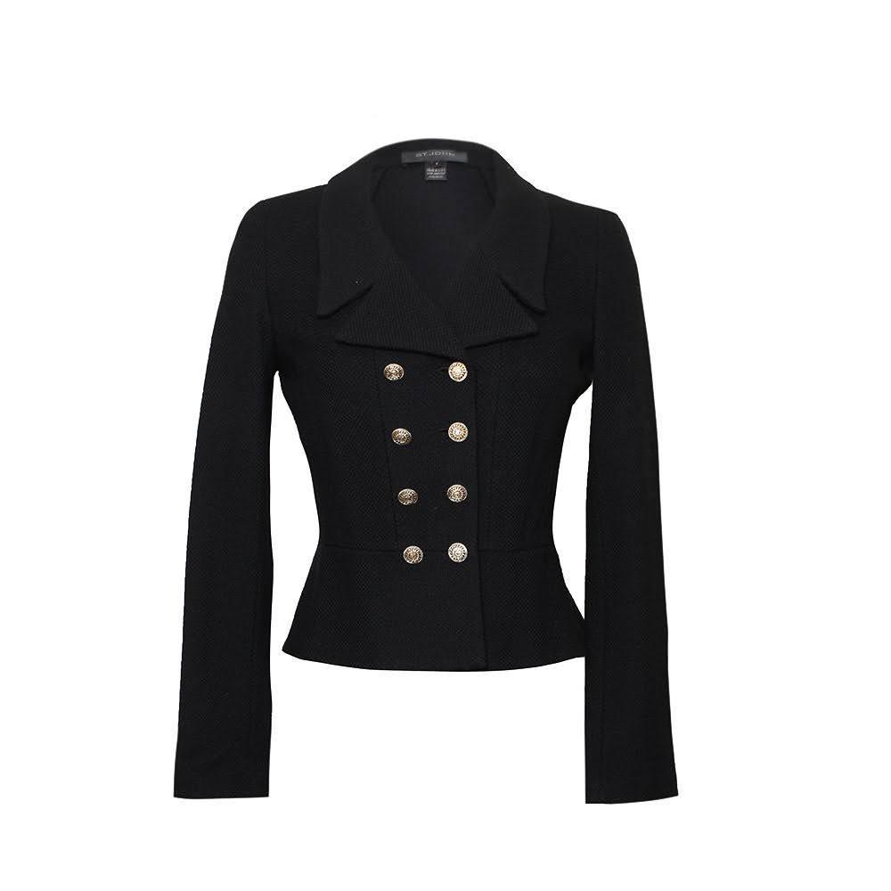 St.John Size 2 Black Jacket