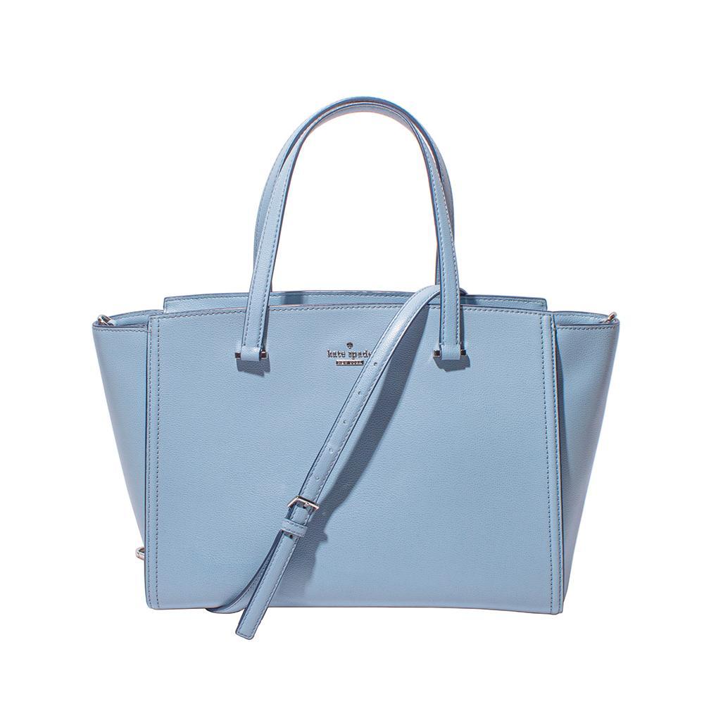 Kate Spade Light Blue Pebbled Leather Tote Bag