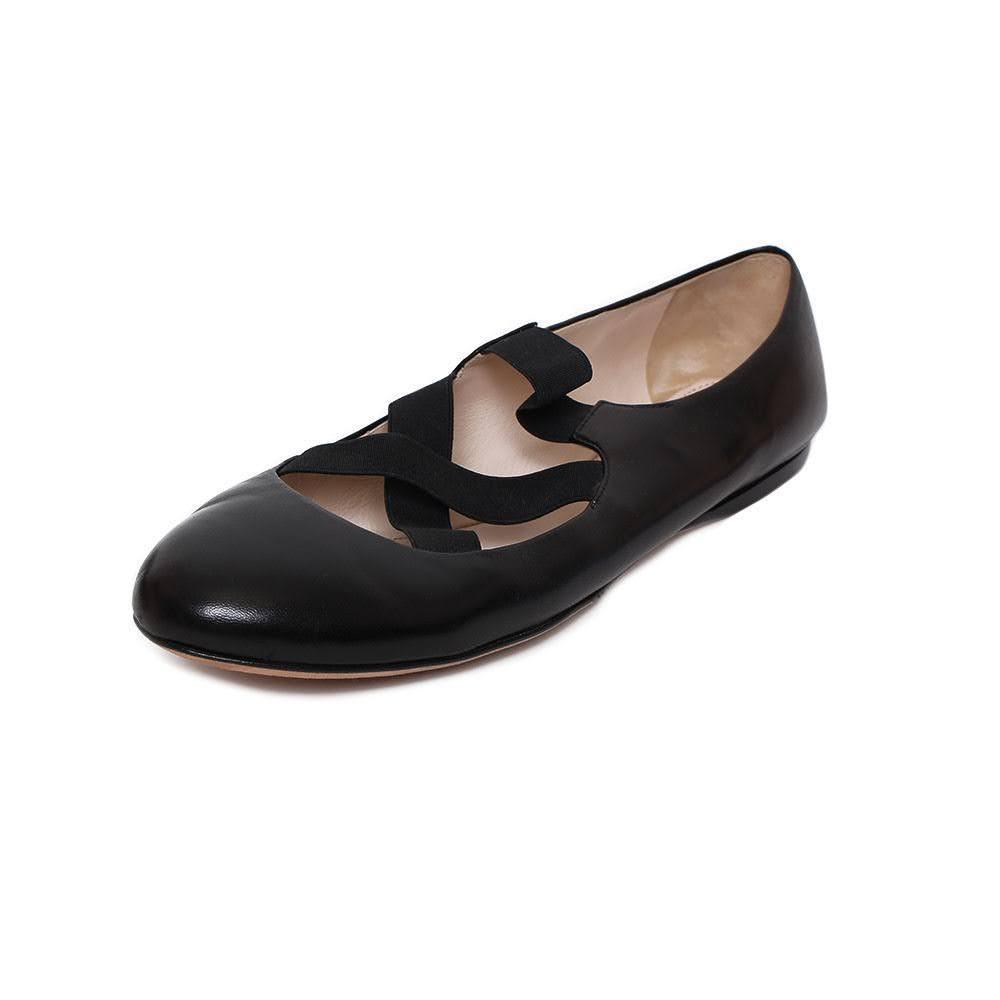 Prada Size 12 Mary Jane Flats