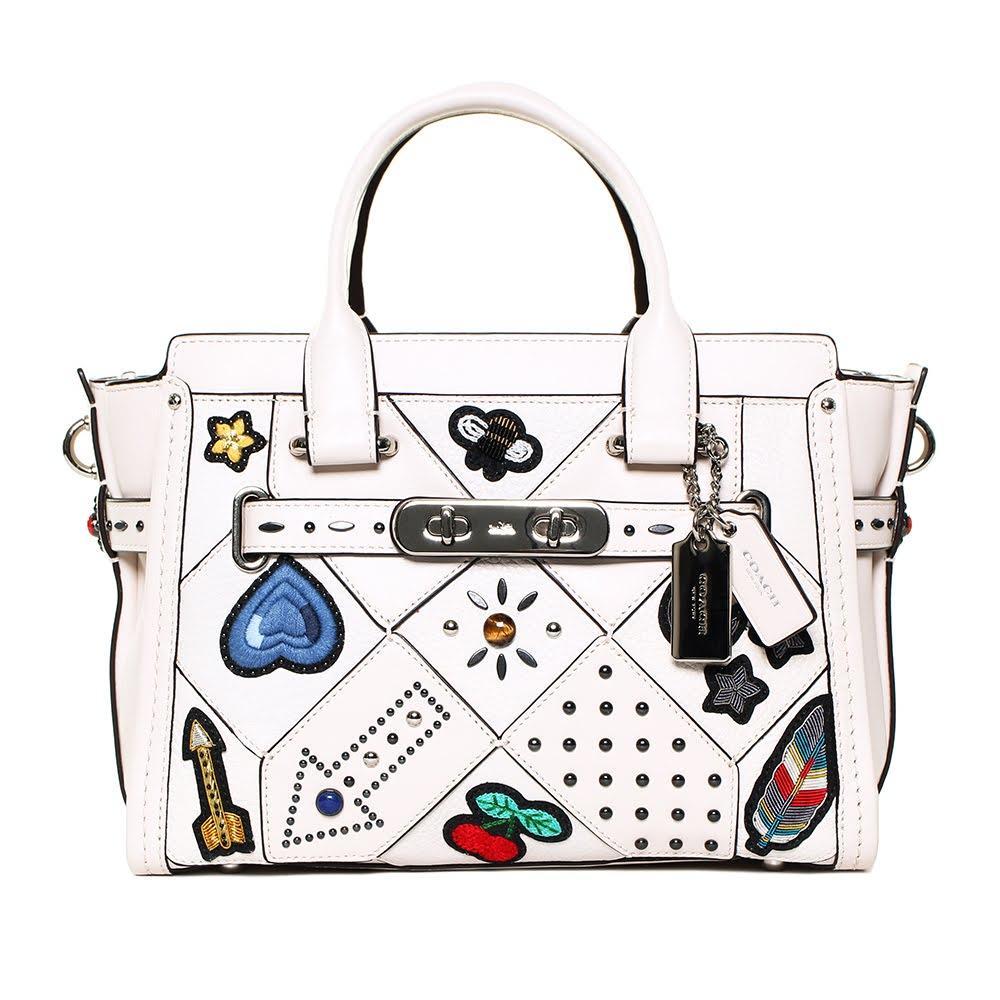Coach Cream Embroidered Handbag