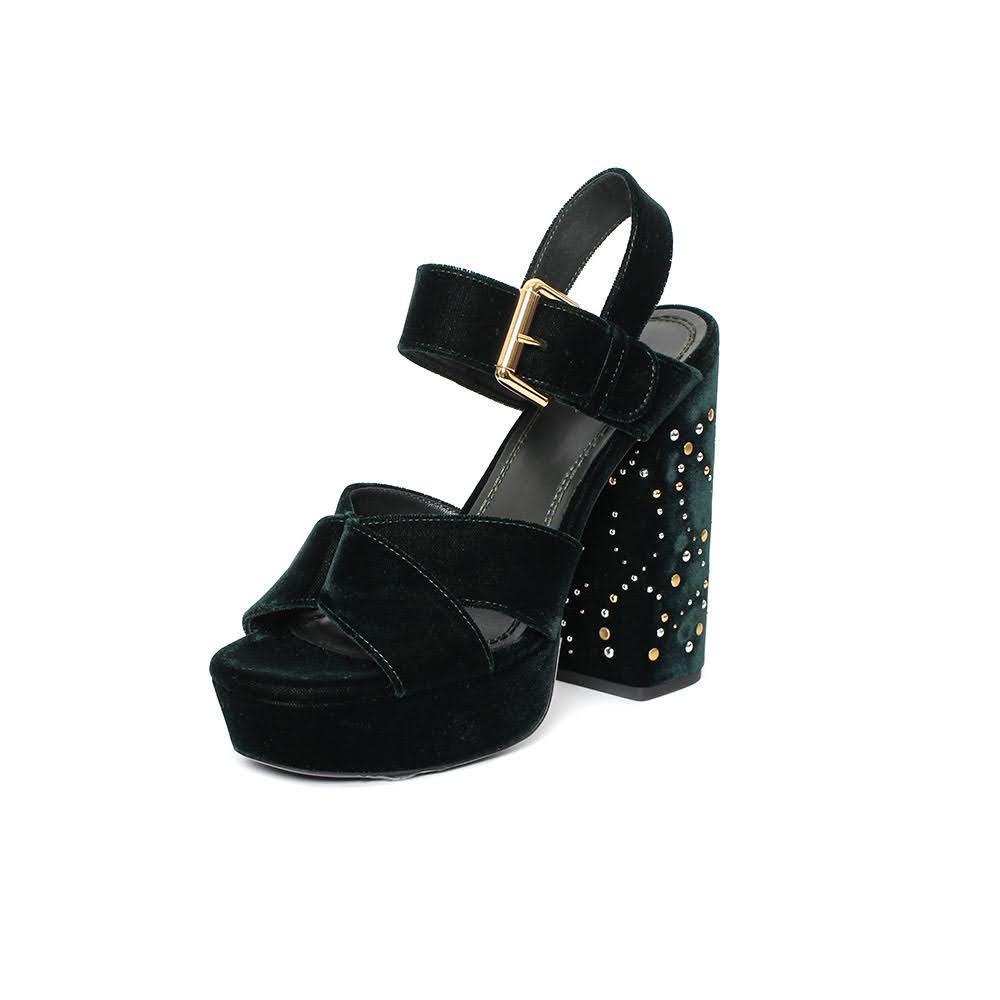 Maje Size 9 Velvet Platform Heel
