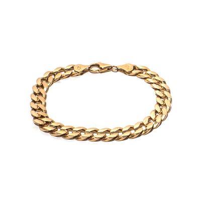 14K Flat Cuban Link Bracelet