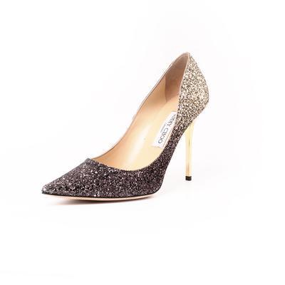 Jimmy Choo Size 9.5 Glitter Romy Ombre High Heel