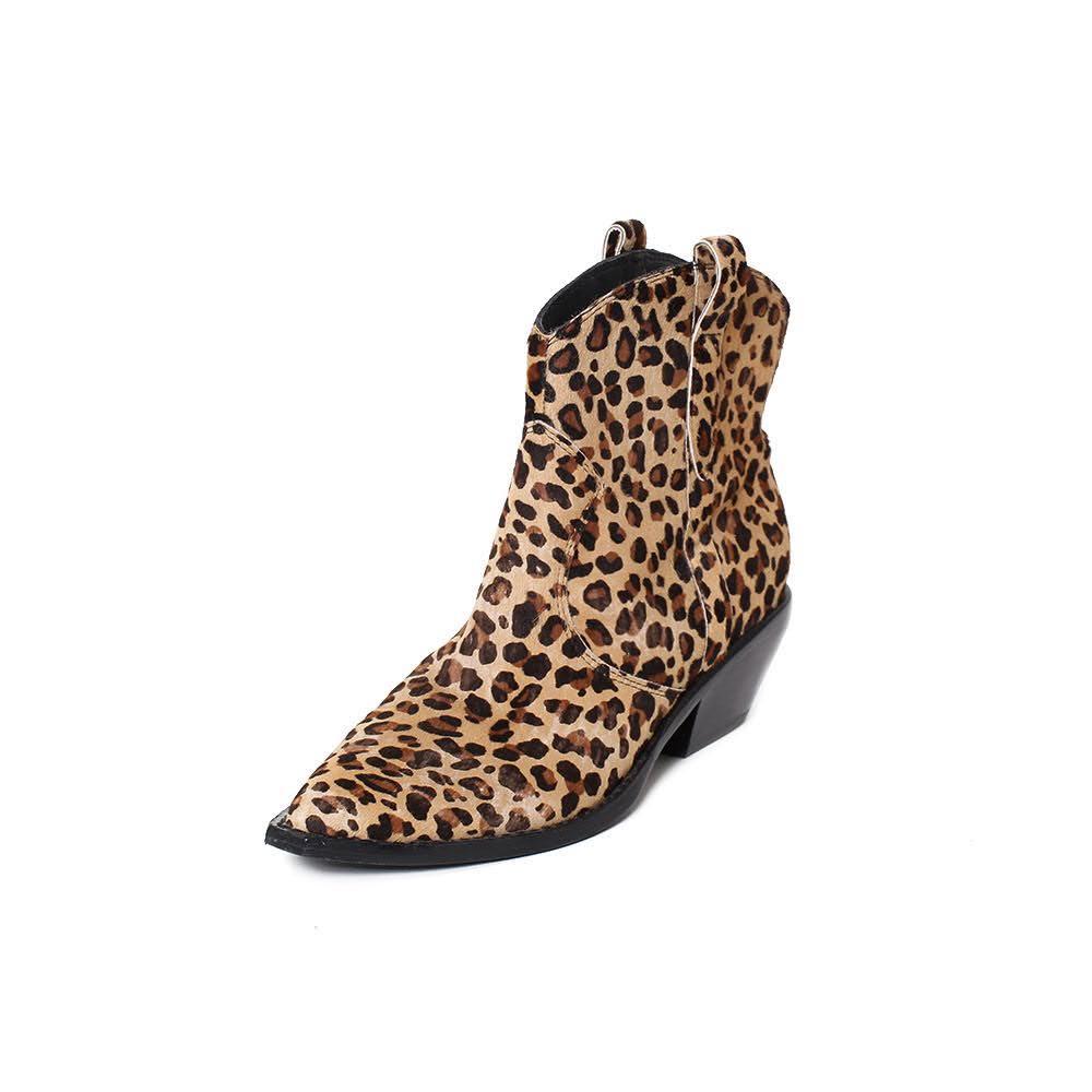 Sigerson Morrison Size 6.5 Distressed Leopard Boots