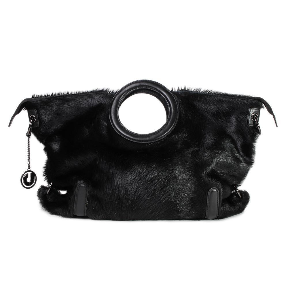 Charles Jourdan Fur Handbag