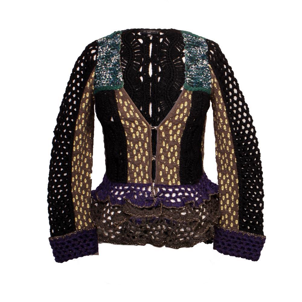 Etro Size 38 Wool Knitted Jacket