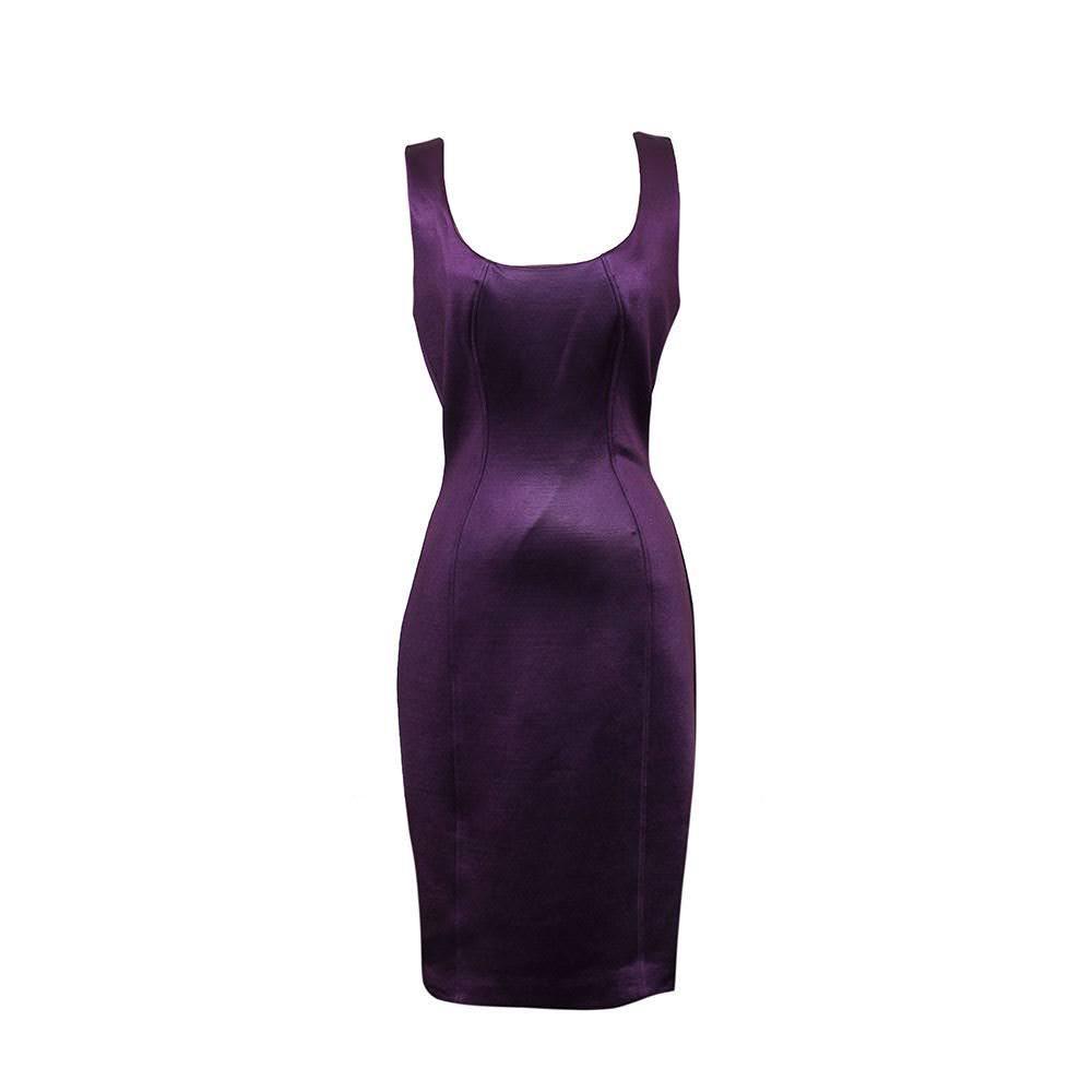 Versace Size 42 Purple Dress