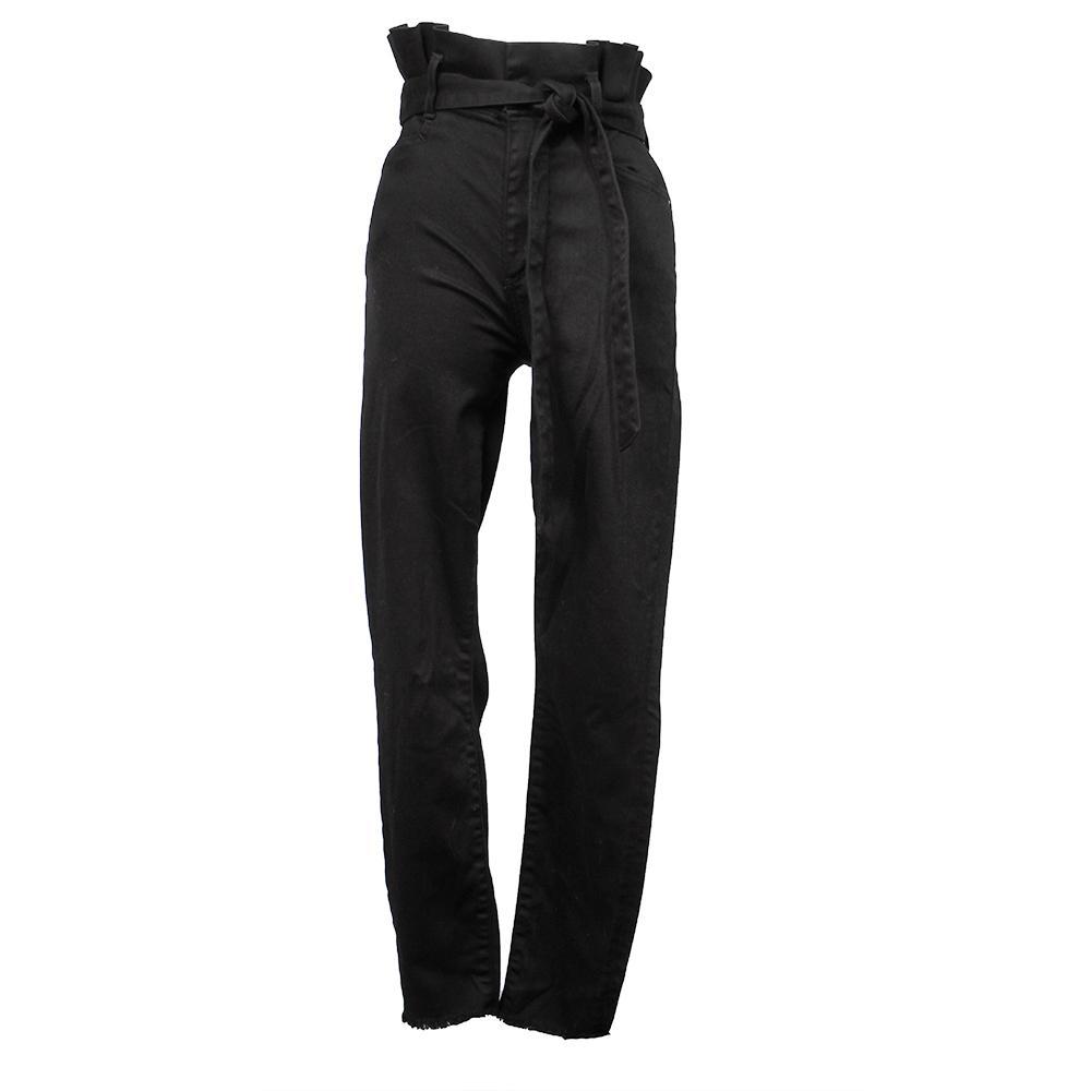 Alice + Olivia Size 28 Black High Waisted Tie Pants