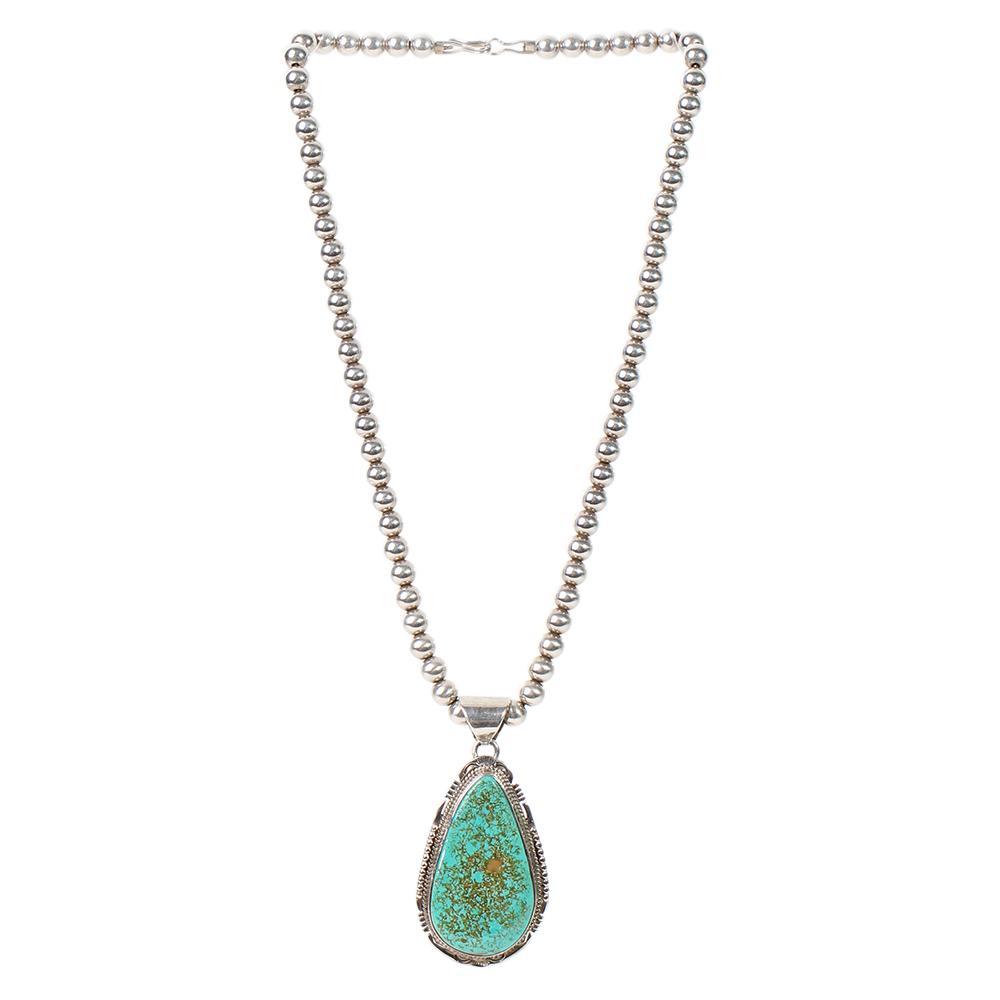 John Nelson Turquoise Pendant Necklace