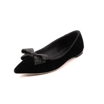 Giuseppe Zanotti Size 7 Black Velvet Flats