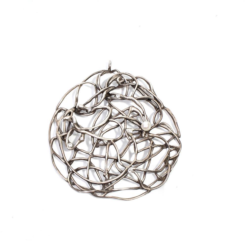 Emanuela Duca Freeform Pearl Pendant