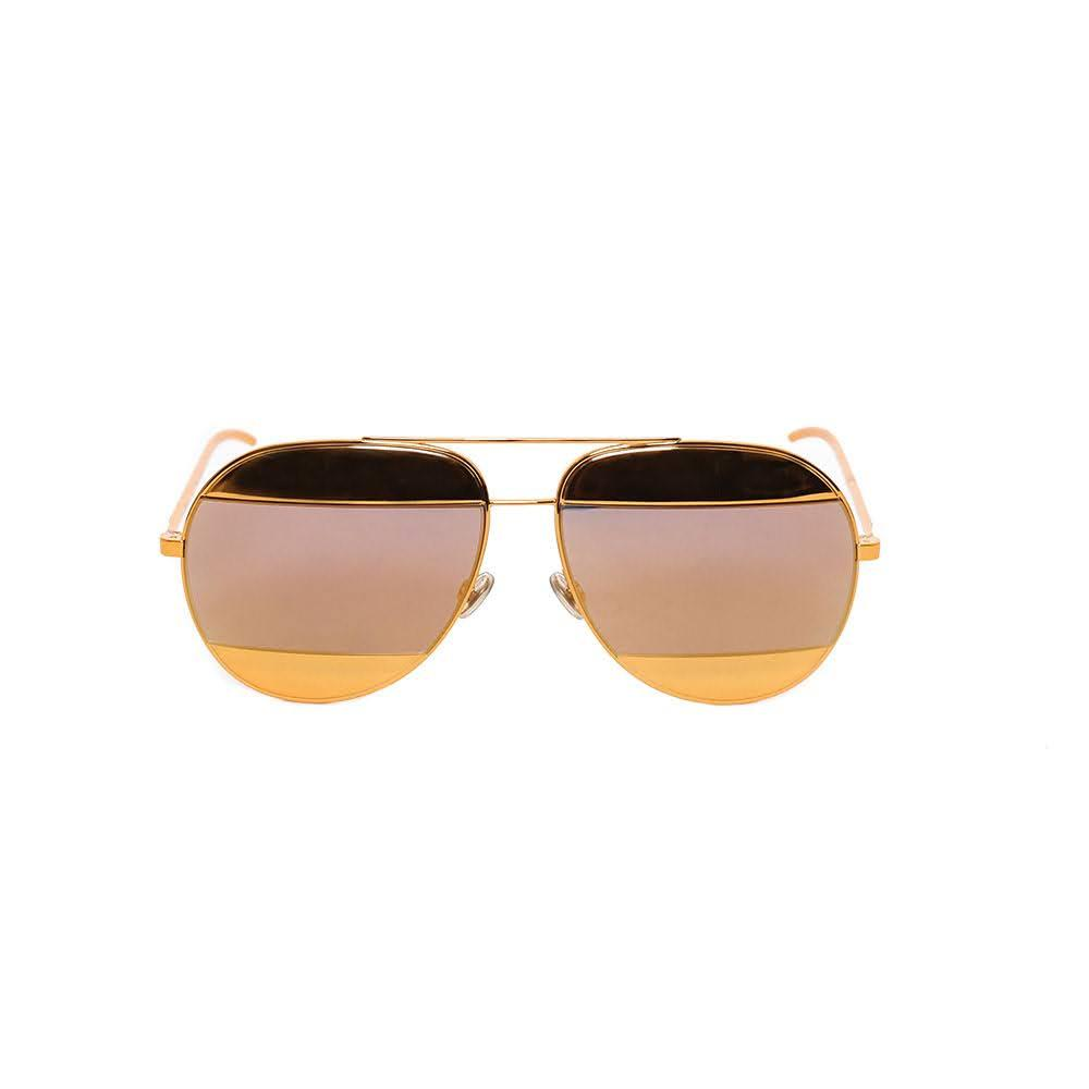 Christian Dior Split Gold Sunglasses
