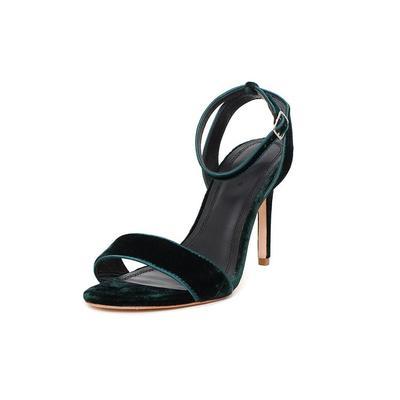 Sandro Size 8 Green Velvet Heels