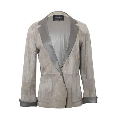 Lafayette 148 Size 2 Grey Suede Jacket